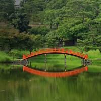 Bridge over still waters: The Daijo-in Temple garden is a peaceful shadow of its former self. | MANDY BARTOK