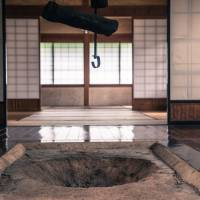 Each home is lined with tatami mats and weathered wood. | BEN BEECH