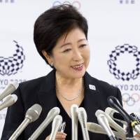 In the top seat: Tokyo Gov. Yuriko Koike attends a press conference on Aug. 31. The rise of the new governor has some similarities to that of Toru Hashimoto's in Osaka. | BLOOMBERG