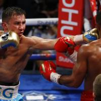 World middleweight champ Golovkin stops Brook in fifth round