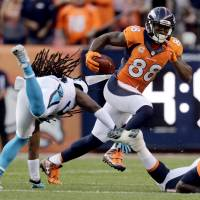 Broncos beat Panthers in rematch of Super Bowl 50