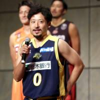 Tochigi Brex guard Yuta Tabuse reflects on the start of the inaugural B. League season during a Monday news conference in Tokyo. | KAZ NAGATSUKA