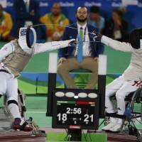 Wheelchair fencers exhibit unique skills
