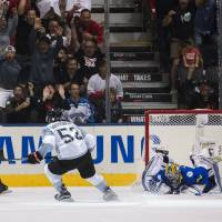 North America beats Sweden in OT, needs help to advance