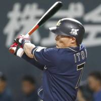 Itoi's three-homer performance guides Buffaloes past Fighters