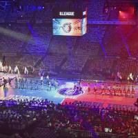 The B. League's inaugural game was held at Yoyogi National Gymnasium on Thursday night. | KYODO
