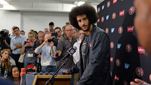 Kaepernick putting career on line with anthem issue