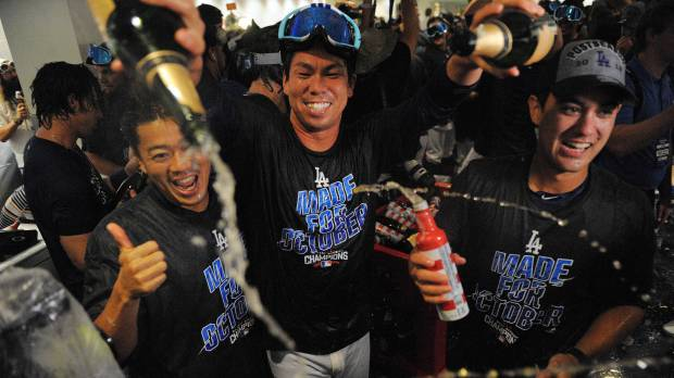 Dodgers clinch division on walk-off homer
