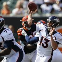 Siemian's big day sends Broncos past Bengals