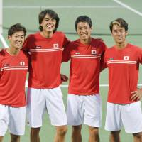 Nishikori, Japan aiming high after Davis Cup playoff sweep