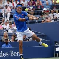 Nishikori reaches third round at U.S. Open