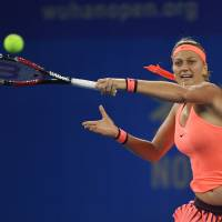 Kvitova whips Halep to book spot in Wuhan Open final