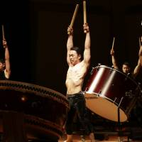 In circles: The Sado Island-based Kodo drum troupe mixes theatrics and traditional Japanese drumming in its latest show, 'Spiral.' | © TAKASHI OKAMOTO