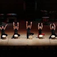 Drum row: Members of the Kodo drum troupe will tour latest production 'Spiral' across the country through late December. | © TAKASHI OKAMOTO