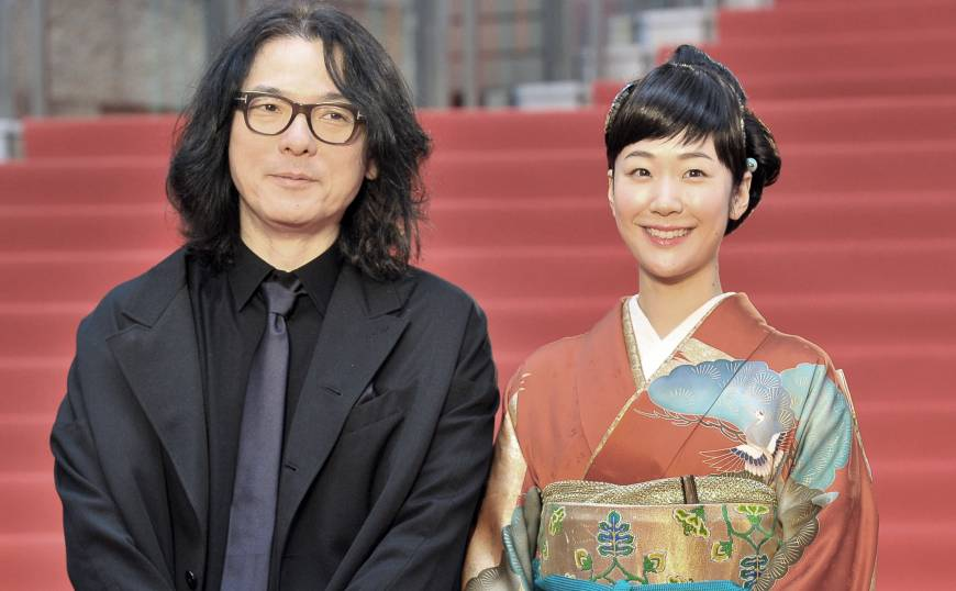 Director Shunji Iwai, whose works are being featured in a retrospective, and actress and