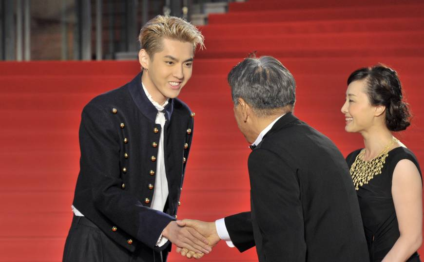 Chinese-Canadian singer/actor Kris Wu, who stars in