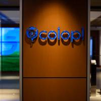 The Colopl Inc. logo is seen displayed inside the company's office in Tokyo on Oct. 19. | BLOOMBERG