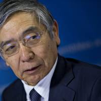 Kuroda signals BOJ may delay reaching 2 percent inflation target to 2018