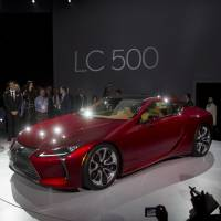 A Toyota Motor Corp. Lexus LC 500 vehicle is displayed at the 2016 North American International Auto Show in Detroit in January. Toyota and Lexus brands held their lead atop Consumer Reports' annual reliability rankings. | BLOOMBERG