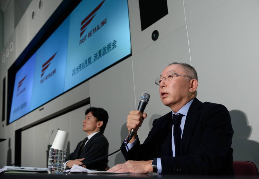 Yanai relents on Fast Retailing sales target amid slowing growth
