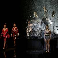 Drenched in fashion: It's raining kimono on Yoshiki's runway