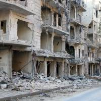 Syrian, Russian forces ready Aleppo exit corridors for wary rebels, civilians
