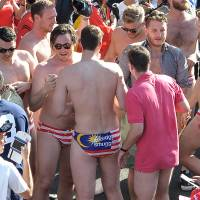 Aussies accused of premeditated Budgy Smuggler briefs display at Malaysia F1 race