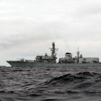U.K. warships shadow Syria-bound Russian carrier battle group in English Channel