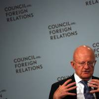 James Clapper, director of national intelligence, speaks at the Council on Foreign Relations in New York City Tuesday. | REUTERS
