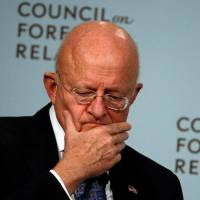 U.S. Director of National Intelligence James Clapper speaks at the Council on Foreign Relations in New York on Tuesday. | REUTERS