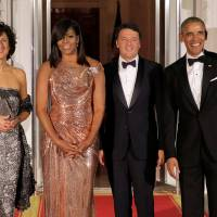 Obama fetes Italy, leader in 'bittersweet' final state dinner