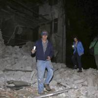 Structures fall as magnitude 6.1 and 5.5 aftershocks rock Italian disaster zone, spur panic