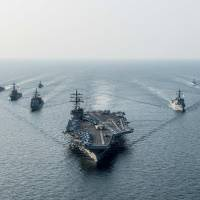 Japan-based U.S. aircraft carrier wraps up joint drills with South Korean Navy
