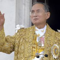 Thailand's Royal Palace said on Thursday that King Bhumibol Adulyadej, seen here in June 2006 during celebrations of the 60th anniversary of his accession to the throne, has died at age 88. | THAI GOVERNMENT PUBLIC RELATIONS DEPARTMENT VIA AP