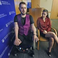 Vet who got transplanted arms can now hold fiancee's hand, pursue chef dream