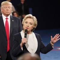 As insults and accusations fly, second Clinton-Trump debate gets personal