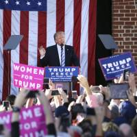 Trump uses policy speech to attack media, promises to sue accusers of sexual assault