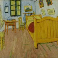 This bed, first made famous by Vincent van Gogh's 1888 painting 'The Bedroom,' may today still be lurking in a home or attic in a small Dutch town. | VINCENT VAN GOGH (PUBLIC DOMAIN) / VIA WIKIMEDIA COMMONS
