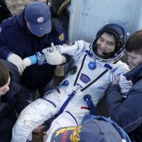 Onishi, ISS crewmates safely back on Earth