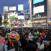Shibuya readies for Halloween party throngs