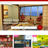 The website of the Khaosan hostel chain advertises its hostels in several popular tourism locations. People from its operator, Manryo Inc., have been arrested over alleged immigration law violations.
