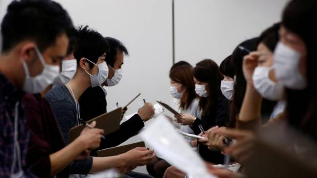 Personality first, looks second as Japan's speed-dating hopefuls don surgical masks