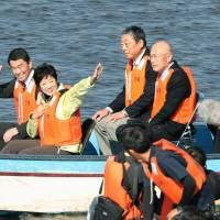 Tokyo governor visits alternative site in Miyagi Prefecture for 2020 Games' rowing and canoe sprint