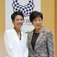 Renho's courting of Koike seen as long-term survival plan amid rumors of new party