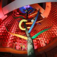 Osaka offers press glimpse inside Expo '70's Tower of the Sun before repairs