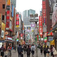Shibuya's Center Gai stays crowded long into the night. | DAVEY YOUNG