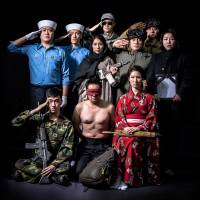 Theatrical salute: A lineup from 'All the Soldiers are Pathetic' by Kunhyung Park. | GANG MOOL LEE © NAMSAN ARTS CENTER
