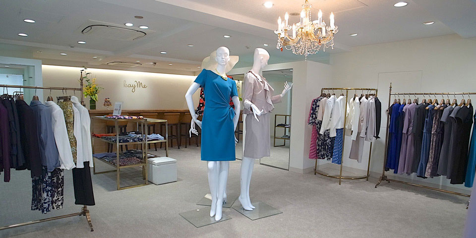 Smart wear: Kay Me in Ginza stocks easy-to-care-for business wear designed specifically for professional women.