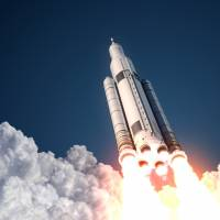 New frontier: NASA's Space Launch System rockets use the same model of engine that was used on space shuttles.                               ISTOCK   ISTOCK