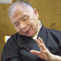 Making a comeback: Comedic storyteller Hayashiya Kanpei suffered a stroke when he was 41, but he has now returned to the stage. His experiences are depicted in a new documentary. | KYODO